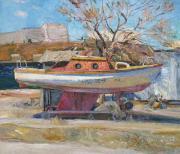 Яхта и сухое дерево