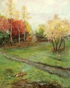 Осенний пейзаж с костром