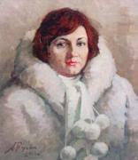 Галина в белой шубке. 2006 г.