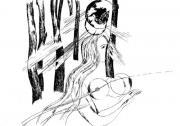Девушка на фоне деревьев