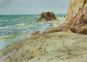 Пляж в Лебедевке