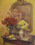 Цветы у зеркала