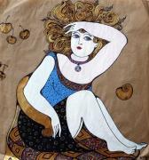 Девочка с яблоком (триптих