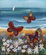 Бабочки и парусник