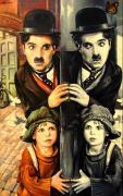 Чаплин и зеркало