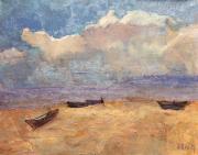 Этюд с лодками
