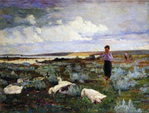 Пастушок. Мальчик с гусями