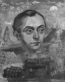 Давид Бурлюк. Портрет Мозеса Сойера