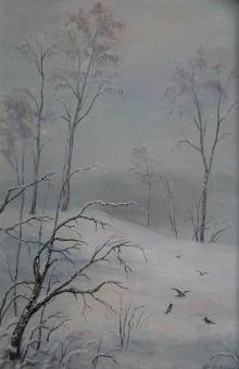 Зимушка, х.м., 20х30