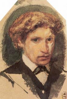 Врубель. Автопортрет. 1882 г.