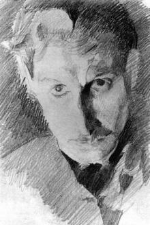 Врубель. Автопортрет. 1885 г.
