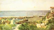 Врубель. Одесский порт. Берег моря. 1885 г.