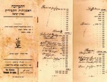 Каталог выставки Перемена. Тель-Авив, 1922 г.