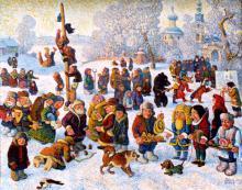 Масленица, картина Валерия Сырова