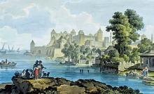 Вид крепости Аккерман со стороны Днестровского лимана, картина Михаила Иванова, вторая половина 1790-х годов