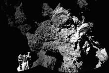 Первый снимок с поверхности кометы. Фото: ESA