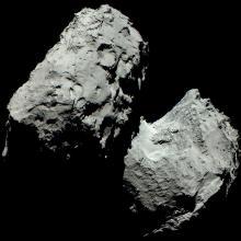 Первое цветное изображение кометы Чурюмова-Герасименко Фото: ЕКА