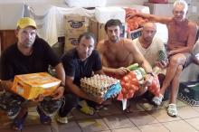 На борт доставлены продукты