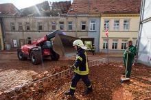 Последствия торнадо в Бютцове Фото: Jens Büttner / DPA / www.globallookpress.com