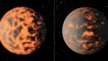 Суперземля 55 Рака в представлении художника (иллюстрация NASA/JPL-Caltech/R.Hurt)