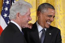 Билл Клинтон и Барак Обама. Фото: Zuma / Global Look