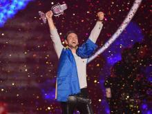 Победу на Евровидении-2015 одержал представитель Швеции Монс Зелмерлев. Getty Images. Фото: Н.Треблин