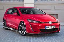 Предполагаемый внешний вид Volkswagen Golf GTI нового поколения. Иллюстрация с сайта automobilemag.com