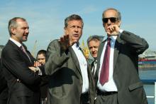 Генеральный директор компании «Бруклин-Киев» Юрий Губанков и глава делегации ЕБРР Пол Флаандерен
