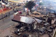 Последствия взрыва на заправке в Гане. Фото: GhanaWeb