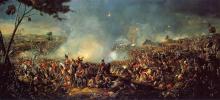 Картина Вильяма Сэдлера Битва при Ватерлоо.
