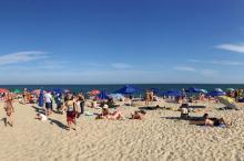 Пляж в Затоке. Фото с Fb-аккаунта курорта