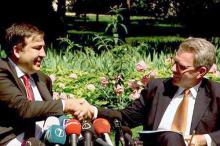 М. Саакашвили и Д. Пайетт. Фото: страница М. Саакашвили в «Фейсбуке»