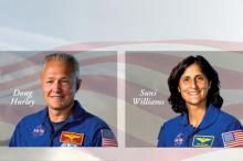 Дуг Херли и Сунита Уильямс. Фото: NASA