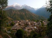 Деревня в Непале. Фото: wanderwonder.ru