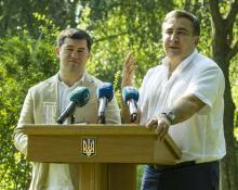 Р. Насиров и М. Саакашвили. Фото Олега Владимирского