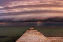 Одесский залив перед бурей. Фото со страницы Укргидрометцентра в Фейсбуке.