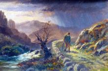Фрагмент картины Александра Манна «Одинокая дорога». Фото: wikimedia.org