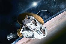 Станция New Horizons над Плутоном  Изображение: Johns Hopkins University Applied Physics Laboratory