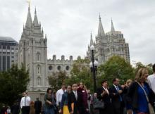 Главный храм мормонов в Солт-Лейк-Сити. Фото BBC News