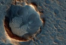 Район посадки миссии Ares 3. Изображение: Univ. of Arizona /JPL-Caltech / NASA