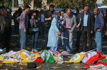Фото BBC News с места теракта в Анкаре