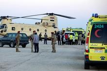 Египетская полиция на месте трагедии. Фото АР с сайта Лента Ру