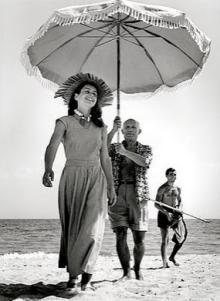 Жило и Пикассо в 1948 г.