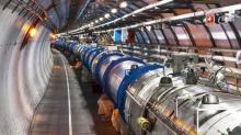 Большой адронный коллайдер в Швейцарии.