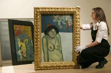 Картина Пабло Пикассо «Певица Кабаре». Фото: Tim Ireland / AP