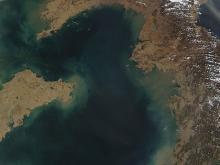 Желтое море. Wikipedia.org. Фото: NASA Terra satellite