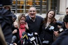 Винсент Асаро дает интервью после заседания суда. Фото: Lucas Jackson / Reuters
