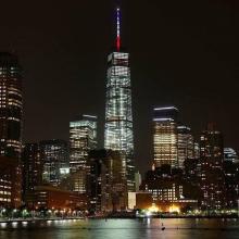 Здание WTC One в Нью-Йорке. Фото: Twitter
