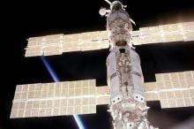 Солнечные батареи на МКС. Фото: Wikimedia Commons