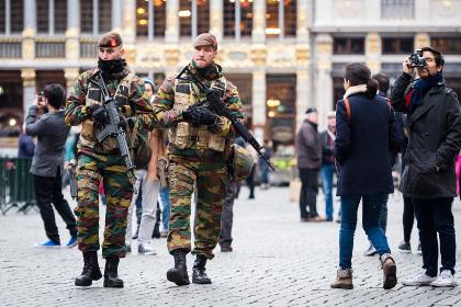 ВБрюсселе объявлен наивысший уровень террористической опасности